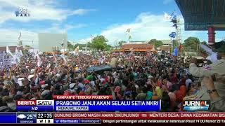 Kampanye di Merauke, Prabowo Janji Selalu Setia NKRI