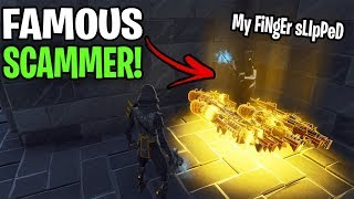 So I traded with the most famous scammer! 😱 (Scammer Gets Scammed) Fortnite Save The World