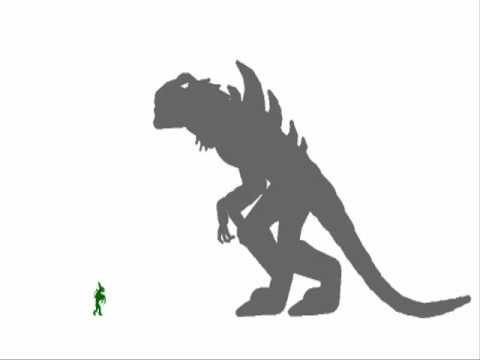 PsycoSpot Battles:Alien Hunter vs Zilla