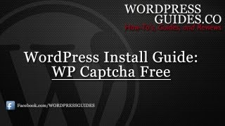 How to Install the WP Captcha-Free WordPress Plugin