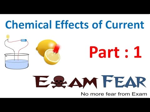 Physics Chemical Effects of Current Part 1 (Introduction) Class 8