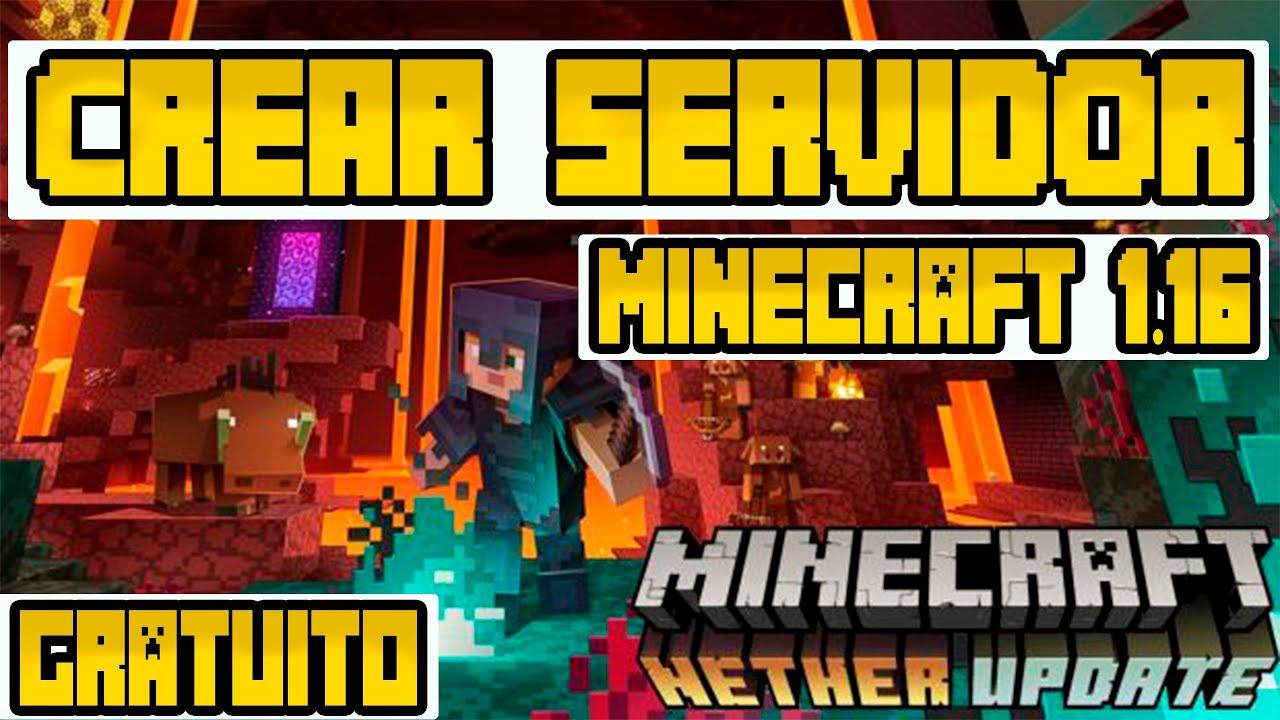 COMO CREAR UN SERVER EN MINECRAFT 1.16 NETHER UPDATE ...