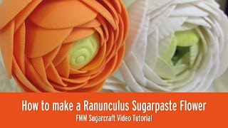 How to make a Ranunculus Sugar Flower | Charlotte Watson | FMM Sugarcraft