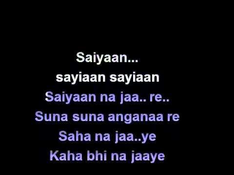 SAIYAAN Karaoke Rahat fathey ali free by Narinder