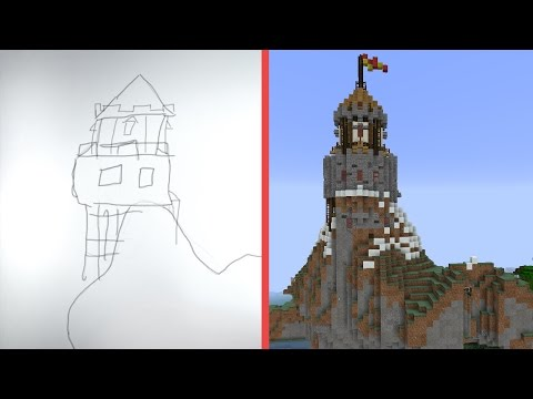 Minecraft Building w/ BdoubleO :: Drawing An Alchemy Tower 427