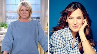 Martha and Jennifer Garner- Martha Stewart