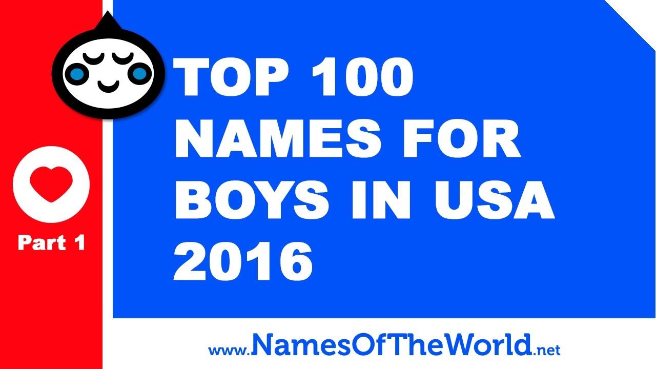 Top 100 Baby Boy Names In US 2016 Part 1