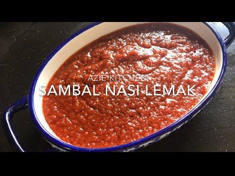 Sambal Nasi Lemak Azie Kitchen (Resepi Di Blog) - YouTube