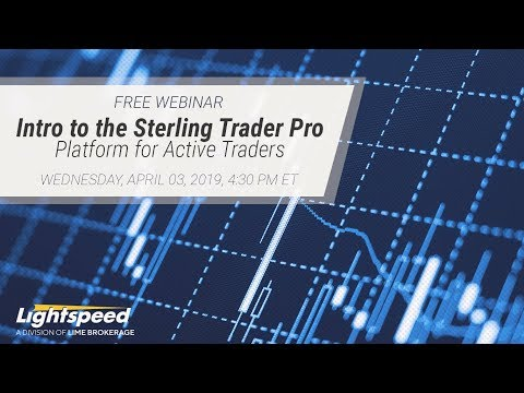 Intro to the Sterling Trader Pro Platform for Active Traders