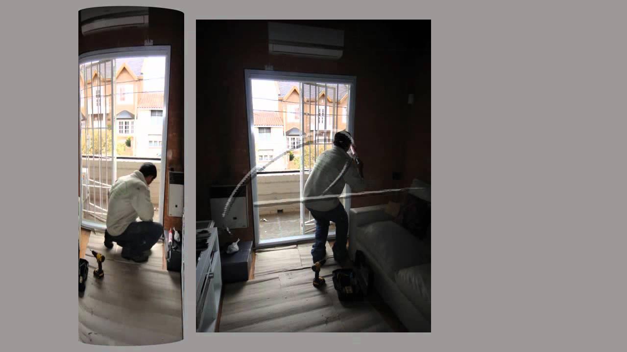 Cambio de abertura de madera por una puerta balcón de aluminio ...