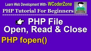 php file open read and close     php fopen function – 1 Mp3