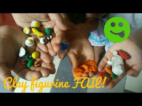 Dollar Tree Clay Figurine Fail... With Happy Ending. Poor Sponge Bob And Plankton.