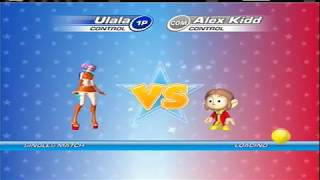 SEGA Superstars Tennis (Xbox 360) - Beating Alex Kidd