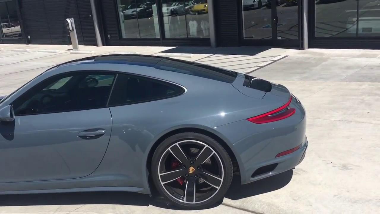911 Carrera Gts >> 2017 Porsche 911 C4S Graphite Blue - YouTube