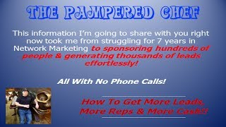 The Pampered Chef | Want Results?  Then Use This Amazing Lucrative Marketing Model Now