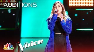 """Maelyn Jarmon Earns Four Chair Turns with  """"Fields of Gold """"   The Voice Blind Auditions 2019"""