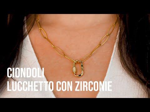 Creare gioielli must have con Ciondoli lucchetto con zirconie
