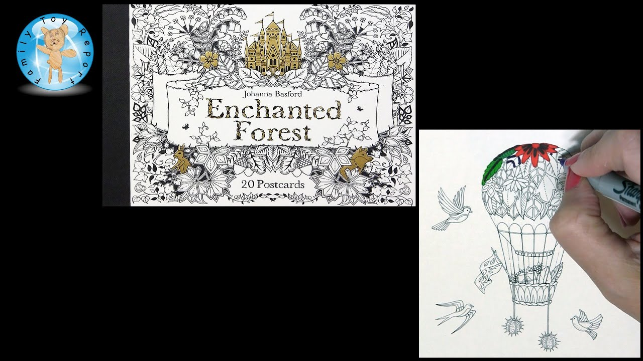 Enchanted Forest By Johanna Basford Adult Coloring Book Postcards Balloon