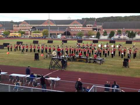 2015 Cheshire High School Marching Band and Color Guard at the New Milford Home Show