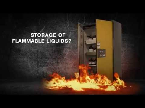 Asecos Type 90 flammable liquid safety storage cabinets by G3lab