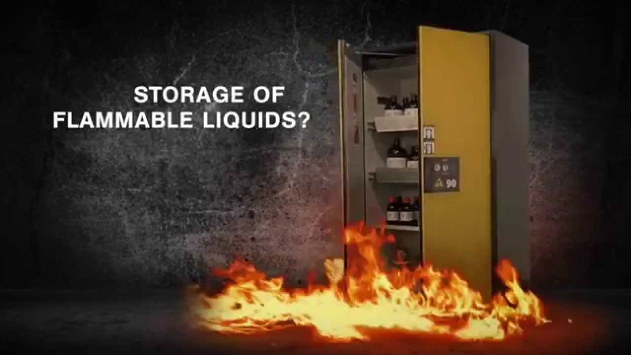 Asecos Type 90 flammable liquid safety storage cabinets by