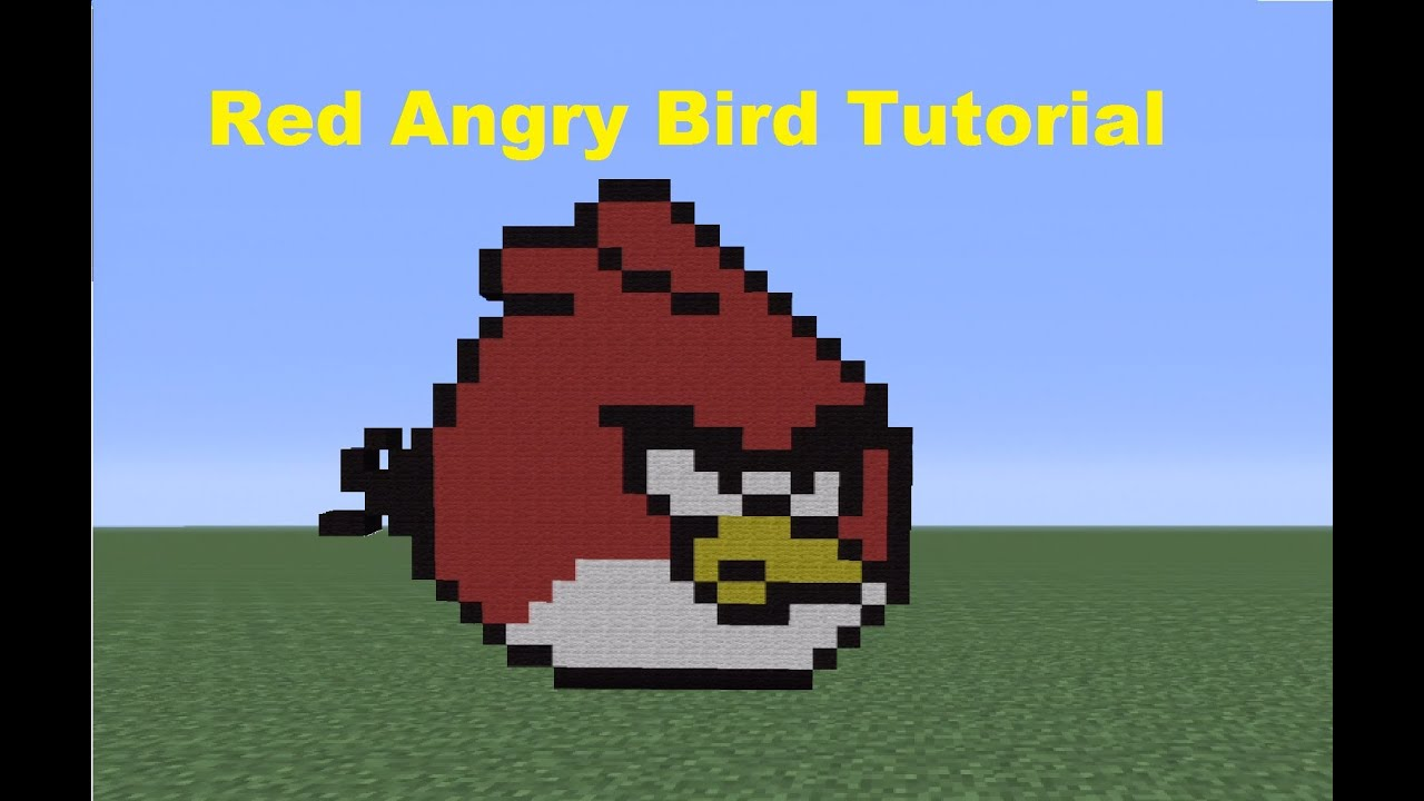 Minecraft 360: How To Make A Red Angry Bird *Remake* - YouTube