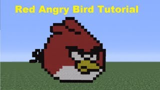 Minecraft 360: How To Make A Red Angry Bird *Remake*