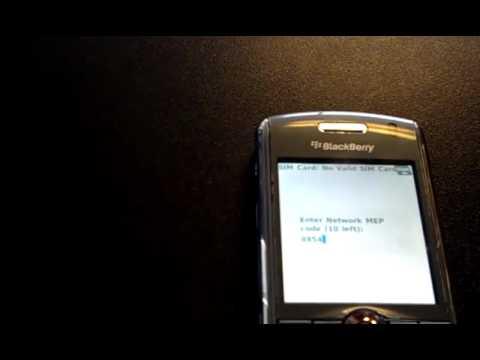 Blackberry Pearl 8100, 8120, 8110 Unlock