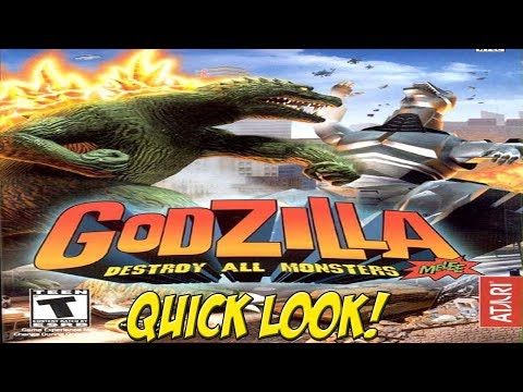 Godzilla: Destroy All Monsters Melee! XBOX Quick Look - YoVideogames