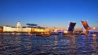 Санкт-Петербург. Развод Дворцового моста. Шоу Поющие мосты.