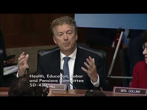 Rand Paul DESTROYS Big Pharma Nominee During Hearing