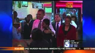 President Obama Visits Roscoe's Chicken N' Waffles