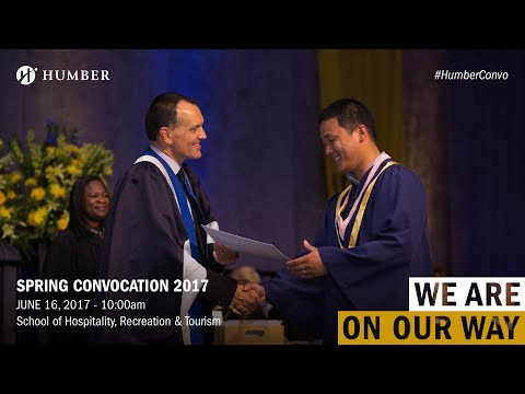 Spring Convocation 2017 - School of Hospitality, Recreation and Tourism