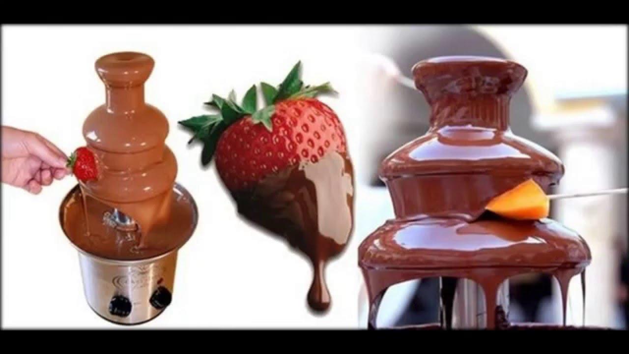 Шоколадный фотнат. Chocolate Fondue Fountain. Шоколадный фонтан .