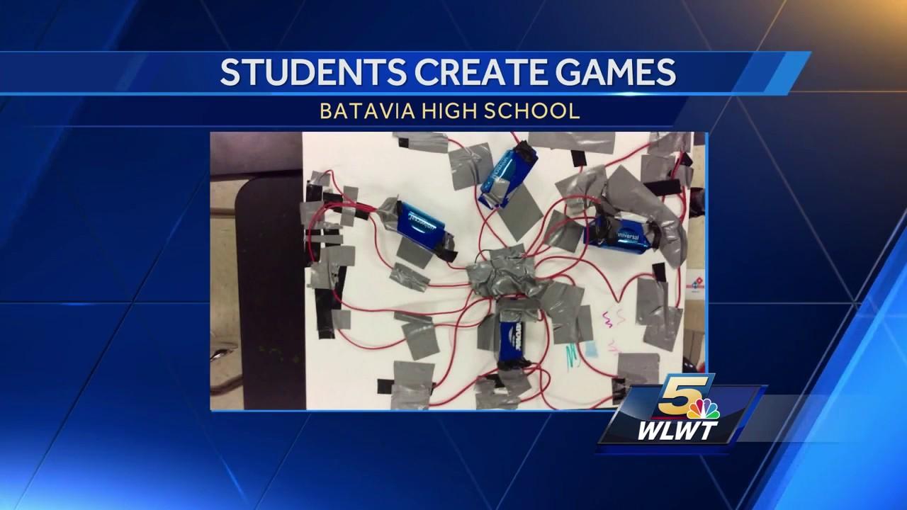 Batavia High School science students create board games