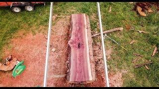 Sacando Madera de Un Tronco IMPRESIONANTE - Milling A Giant Oak Tree - Lucas Mill