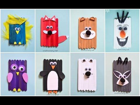 POPSICLE STICK CRAFTS | LOLLY STICK ANIMALS | KIDS CRAFT IDEAS ...