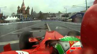 F1 2011 - Ferrari & Giancarlo Fisichella at the Moscow City Racing show