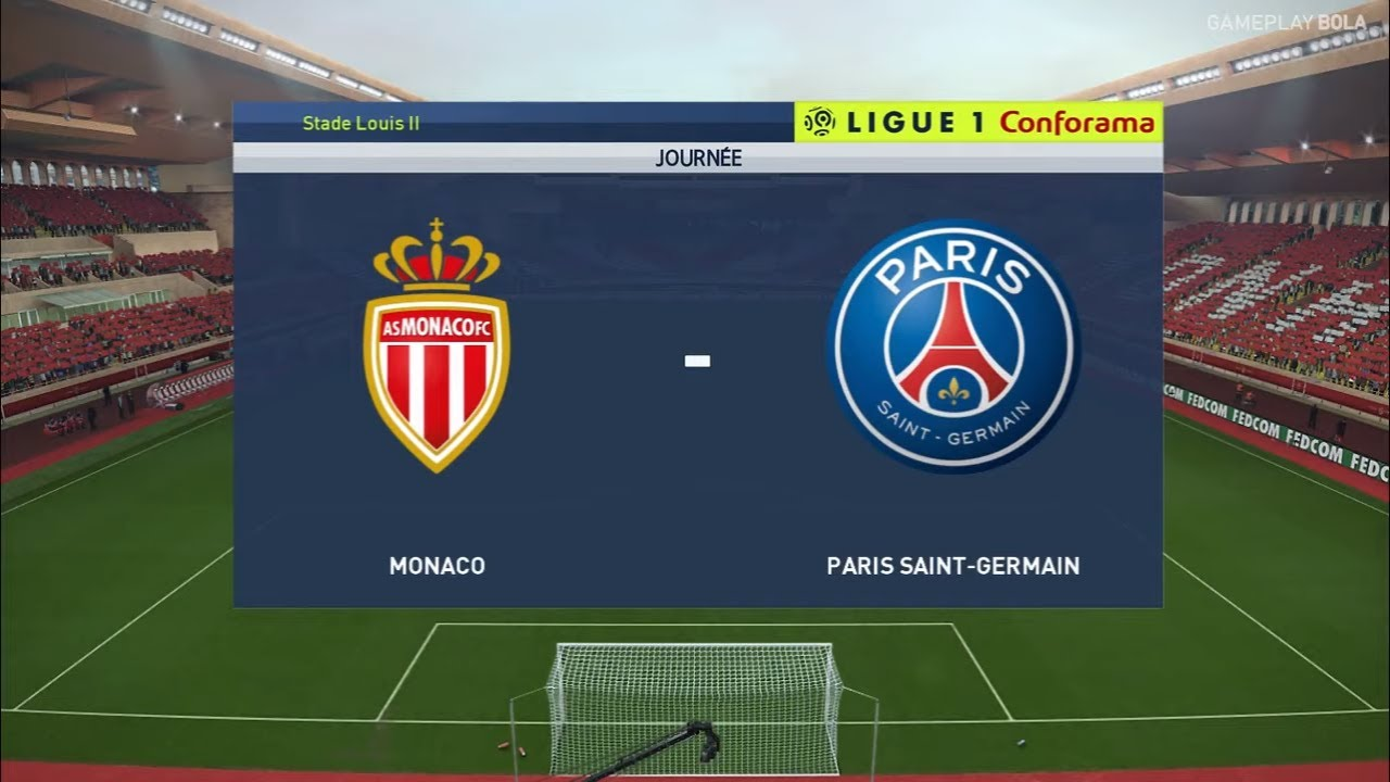 AS MONACO vs PSG - Ligue 1 France 2019 ...