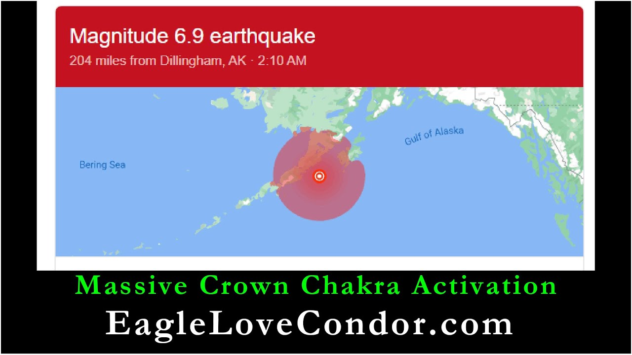 Massive Activation today in Crown Chakra of Lemuria ~ M6.9 Earthquake in Alaska followed by Swarms