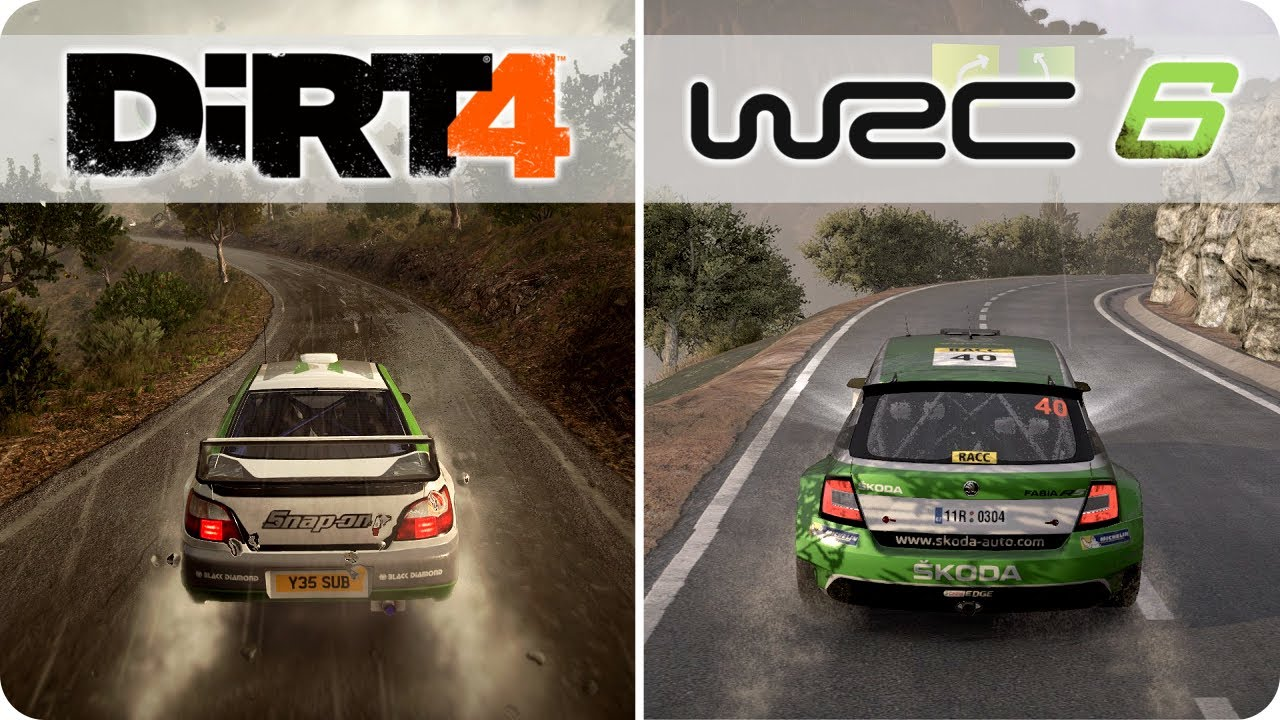 pc graphics comparison dirt 4 vs wrc 6 ultra settings youtube. Black Bedroom Furniture Sets. Home Design Ideas