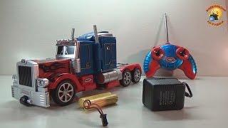 Transformers  Optimus prime обзор игрушки Оптимус Прайм(Игрушка Трансформер Оптимус Прайм на радиоуправлении (фрагменты фильма Transformers 4 Age of Extinction. Эпоха истреблен..., 2014-10-31T00:42:54.000Z)