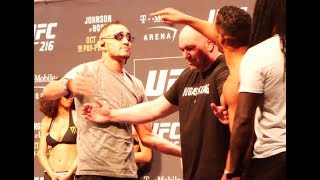 UFC 216 Weigh Ins: Tony Ferguson vs. Kevin Lee Staredown