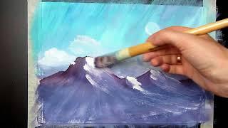 Видеоурок *Рисуем горы гуашью!*