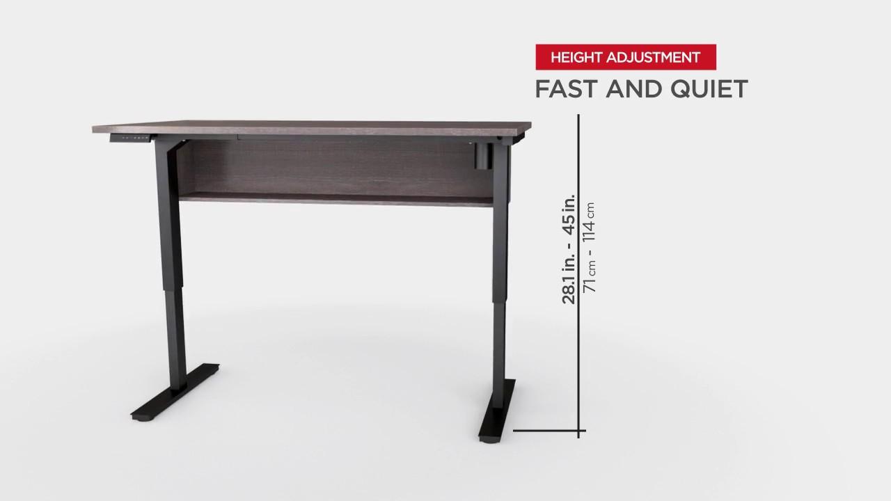 digital height adjustable table bestar