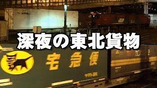 【ENG SUB】JR東日本/JR貨物 深夜の東北貨物・23本 Japanese Freight Train