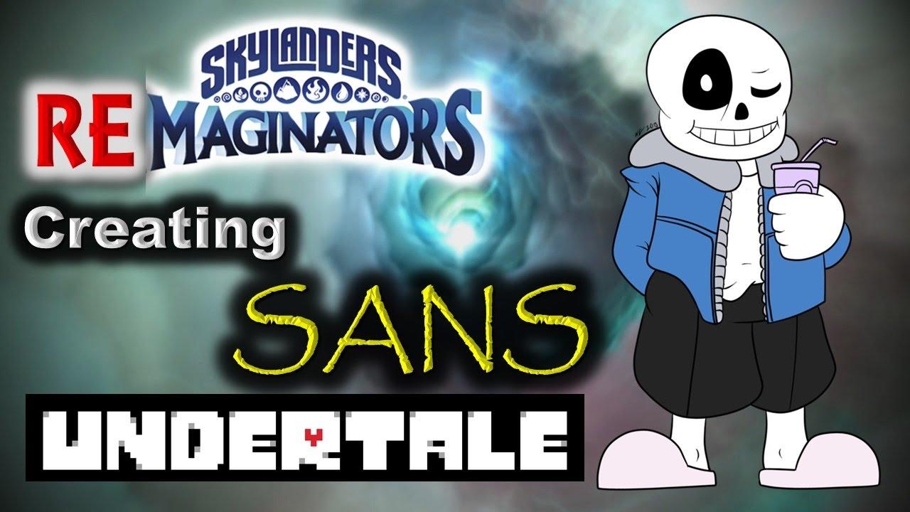 Skylanders RE-maginators - Creating SANS 💀 from Undertale in Skylanders  Imaginators!