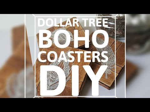 DIY Boho Coasters (Dollar tree 2018)