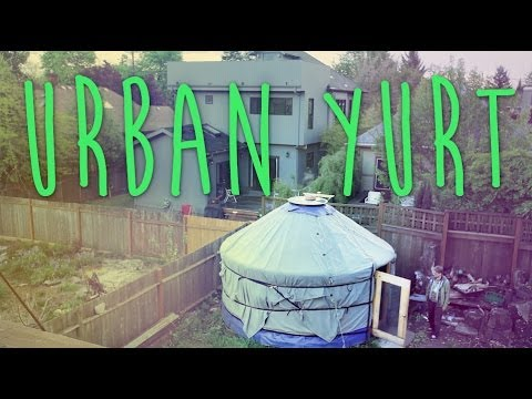Urban Yurt living - Packs in a few hours -  Rocketstove