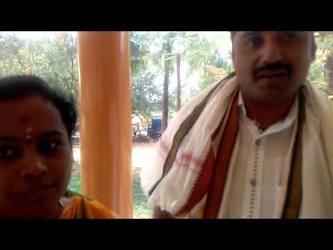 Couple residence of Bangalore  offered Tulabhara  to Sri arikere Naganatheswara swamy ,temple in sri
